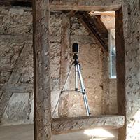 Vermessung historischer Dachstuhl